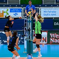 20201101 Volleyball, Bundesliga Frauen, Normalrunde, USC MŸnster / Muenster vs. Allianz MTV Stuttgar