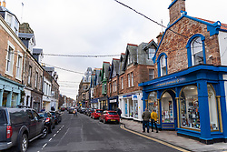 North Berwick, Scotland, UK. 17 December 2020. Scottish Government states that East Lothian is to move from level 2 to level 3 lockdown from Friday 18 December. This means restaurants and bars are not allowed to sell alcohol. Pic; View of High Street in North Berwick.  Iain Masterton/Alamy Live News