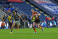 James Clare of Castleford Tigers during the Betfred Super League match between Leeds Rhinos and Castleford Tigers at Emerald Headingley Stadium, Leeds, United Kingdom on 26 October 2020.