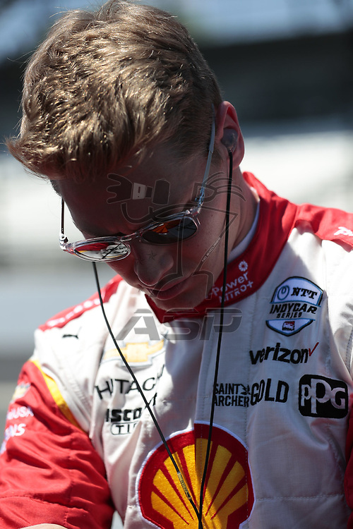 JOSEF NEWGARDEN (2) of the United States prepares to qualify for the Indianapolis 500 at Indianapolis Motor Speedway in Indianapolis, Indiana.