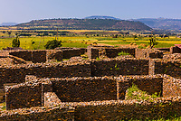 Ruins of Palace of the Queen of Sheba, Aksum (Axum), Ethiopia.