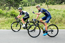 Mark Cavendish (GB) of Team Dimension Data and Luka Mezgec (SLO) of Orica - Scott during Stage 1 of 24th Tour of Slovenia 2017 / Tour de Slovenie from Koper to Kocevje (159,4 km) cycling race on June 15, 2017 in Slovenia. Photo by Vid Ponikvar / Sportida