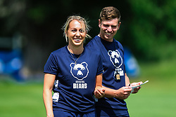 Jemma Gardner and George Van Klaveren in action during week 1 of Bristol Bears pre-season training ahead of the 19/20 Gallagher Premiership season - Rogan/JMP - 03/07/2019 - RUGBY UNION - Clifton Rugby Club - Bristol, England.