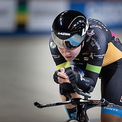 28-12-2018: Wielrennen: NK Baan: Apeldoorn<br /> Loes Adegeest rijdt de tweede tijd in de kwalificatie en mag de finale rijden