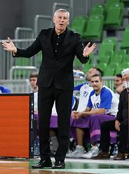Damjan Novakovic, head coach of Rogaska during basketball match between KK Cedevita Olimpija and KK Rogaska in 2nd Round of Liga za prvaka of Nova KBM League 2020/21, on March 4, 2021 in Arena Stozice, Ljubljana, Slovenia. Photo by Vid Ponikvar / Sportida