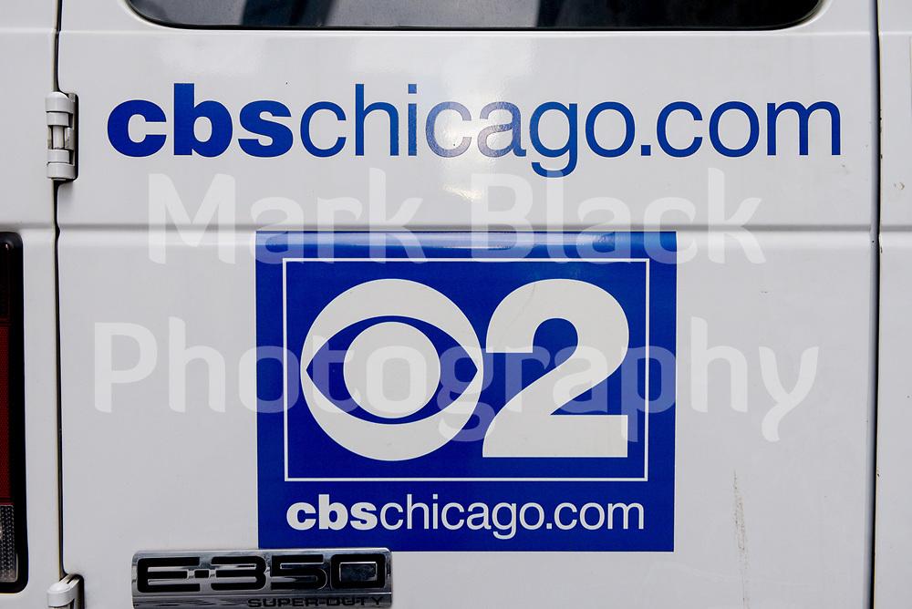 CBS 2 Chicago TV logo  in Chicago, Illinois. Photo by Mark Black