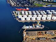Nederland, Noord-Holland, Amsterdam, 02-09-2020; Westpoort met Westhaven, Bosporushaven, Sonthaven.<br /> Western docklands.<br /> luchtfoto (toeslag op standard tarieven);<br /> aerial photo (additional fee required);<br /> copyright foto/photo Siebe Swart