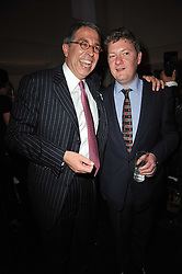 Left to right, ARNAUD PUYFONTAINE and ALEX BILMES at a party to launch Esquire magazine's June issue hosted by new editor Alex Bilmes at Sketch, Conduit Street, London on 5th May 2011.