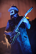 Photos of Rob Zombie performing on The Halloween Hootenanny Tour at the Family Arena in St. Louis on October 7, 2010