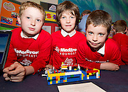 Ethan Earls, John Cosgrove, and Sean O Neill from SCoil Bhride New Inn  the Medtronic Junior FIRST LEGO League challenge at the Radisson Blu Hotel Galway. This is the second year The Galway Education Centre has hosted this competition - one of only six countries in the world who do so. Following the success of last year, over 500 school children from all over the country are expected to come along and practice their robotics, presentation and teamwork skills live on the night!. .Bernard Kirk, Director of The Galway Education Centre says; ?Working on this three day event every year is fun and exciting and always surprising. The talent, instinct and drive we discover in these young children is an inspiration to all of us. We look forward to the continued success of all of our challenges which would not be possible without the support of companies like Medtronic, SAP, HP and LEGO?. Photo:Andrew Downes