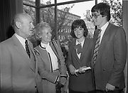 Presentation of certificates of Institute of Chartered Accountants at Trinity College, Dublin,<br />