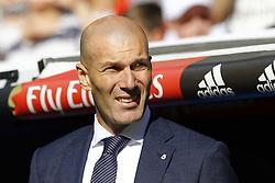 March 16, 2019 - Madrid, Madrid, Spain - Real Madrid CF's Zinedine Zidane seen before the Spanish La Liga match round 28 between Real Madrid and RC Celta Vigo at the Santiago Bernabeu Stadium in Madrid. (Credit Image: © Manu Reino/SOPA Images via ZUMA Wire)