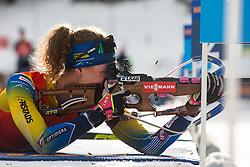 Hanna Oeberg (SWE) during the Mass Start Women 12,5 km at day 4 of IBU Biathlon World Cup 2019/20 Pokljuka, on January 23, 2020 in Rudno polje, Pokljuka, Pokljuka, Slovenia. Photo by Peter Podobnik / Sportida
