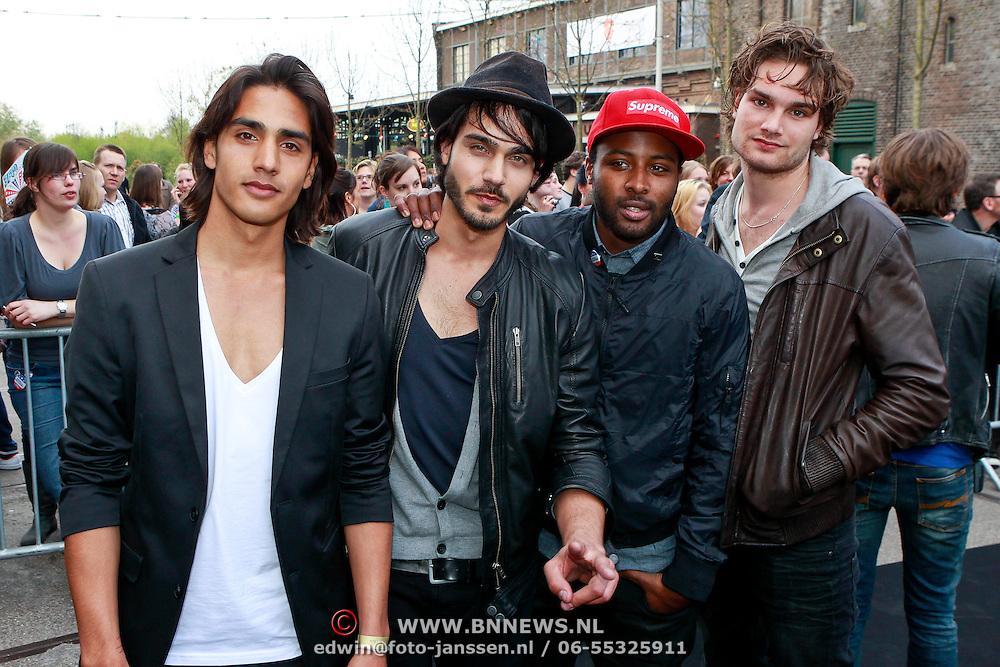 NLD/Amsterdam/20110414 - Uitreiking 3FM Awards 2011, Valerius, Jesse Nambiar, Kay Nambiar, Xander Vrienten, Georgy Patrick