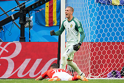 July 3, 2018 - St Petersburg, Russia - 180703 goalkeeper Robin Olsen of Sweden reacts during the FIFA World Cup round of 16 match between Sweden and Switzerland on July 3, 2018 in ST Petersburg..Photo: Petter Arvidson / BILDBYRÃ…N / kod PA / 87748 (Credit Image: © Petter Arvidson/Bildbyran via ZUMA Press)