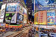 City Lights at Night, Times Square, New York, New York