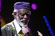 June 23, 2017-New York, NY-United States:  Recording Jazz Artist Pharaoh Sanders performs at the BRIC Celebrate Brooklyn Music Festival held at the Prospect Park Bandshell on June 23, 2017 in Brooklyn, New York. (Terrence Jennings/Polaris)