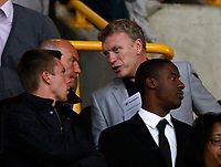 Football- Championship- Wolverhampton Wanderers vs. Barnsley- Scouting? Everton manager David Moyes and Stoke Manager Tony Pulis in the crowd at Molineux