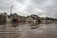 Covington Louisiana, March, 12, 2016,  Joy Street in Tallow Creek was induated with water which continued to rise. 14 inches of rain fell in less than 24 hours, after three days of intermittent rain, causing flash floods. The Tchefuncte River  and Bogue Falaya River<br />  crested on Saturday morning but the flood event continued into the night for those in Tallow Creek.