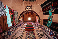 """Pictures of the beehive adobe buildings of Harran, south west Anatolia, Turkey.  Harran was a major ancient city in Upper Mesopotamia whose site is near the modern village of Altınbaşak, Turkey, 24 miles (44 kilometers) southeast of Şanlıurfa. The location is in a district of Şanlıurfa Province that is also named """"Harran"""". Harran is famous for its traditional 'beehive' adobe houses, constructed entirely without wood. The design of these makes them cool inside. 5 .<br /> <br /> If you prefer to buy from our ALAMY PHOTO LIBRARY  Collection visit : https://www.alamy.com/portfolio/paul-williams-funkystock/harran.html<br /> <br /> Visit our TURKEY PHOTO COLLECTIONS for more photos to download or buy as wall art prints https://funkystock.photoshelter.com/gallery-collection/3f-Pictures-of-Turkey-Turkey-Photos-Images-Fotos/C0000U.hJWkZxAbg ."""