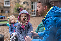 Scottish Children's minister Maree Todd visited Highland Fling nursery in Portobello and met with some male practitioners on a day when more funding was announced to encourage men into childcare jobs. © Jon Davey/ EEm
