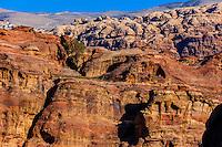 Canyon, Petra Archaeological Park (a UNESCO World Heritage Site), Petra, Jordan.
