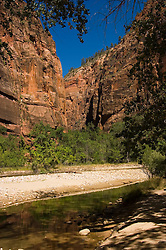 Along the Virgin River in Zion National Park, Utah, UT,  Path alongside the Virgin River near the Narrows, Southwest America, American Southwest, US, United States, Image ut384-17680, Photo copyright: Lee Foster, www.fostertravel.com, lee@fostertravel.com, 510-549-2202