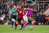 Football - 2016 / 2017 Premier League - AFC Bournemouth vs. Hull City<br /> <br /> Bournemouth's Jack Wilshere tries to hold back Jake Livermore of Hull City from setting up a Hull attack at Dean Court (The Vitality Stadium) Bournemouth<br /> <br /> Colorsport/Shaun Boggust
