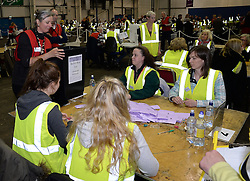 Counting begins of the first ballots in the Edinburgh Western constituency.<br /> <br /> © Dave Johnston/ EEm