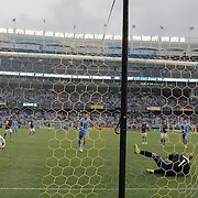 NEW YORK, NEW YORK - July 30: Frank Lampard #8 of New York City FC completes his hat trick as he beats Goalkeeper Tim Howard #1 of Colorado Rapids from the penalty spot during the NYCFC Vs Colorado Rapids regular season MLS game at Yankee Stadium on July 30, 2016 in New York City. (Photo by Tim Clayton/Corbis via Getty Images)