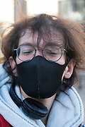 """March, 30th 2020 - Paris, Ile-de-France, France: Parisians wearing a range of masks and facial coverings in the hope of protecting themselves from the spread of the Coronavirus, during the eleventh day of near total lockdown imposed in France. A week after President of France, Emmanuel Macron, said the citizens must stay at home for at least 15 days, now extended a furhet two weeks. He said """"We are at war, a public health war, certainly but we are at war, against an invisible and elusive enemy"""". All journeys outside the home unless justified for essential professional or health reasons are outlawed. Anyone flouting the new regulations is fined. Nigel Dickinson"""