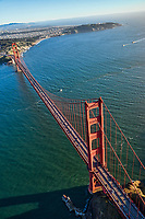 Golden Gate Bridge, Looking Southwest to Lands End