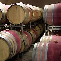 USA, California, Carmel. Wine barrels of Holman Ranch.
