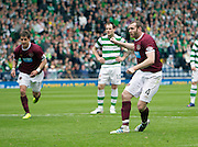 William Hill Scottish FA Cup Semi Final CELTIC FC v HEART OF MIDLOTHIAN FC Season 2011-12.15-04-12...HEARTS CRAIG BEATIE  MAKING IT 2-1 FOR HEARTS   during the William Hill Scottish FA Cup Semi Final tie between CELTIC FC and HEART OF MIDLOTHIAN FC with the Winner facing   in this years Scottish Cup Final in May...At Hampden Park Stadium , Glasgow..Sunday 15th April 2012.Picture Mark Davison/ Prolens Photo Agency / PLPA