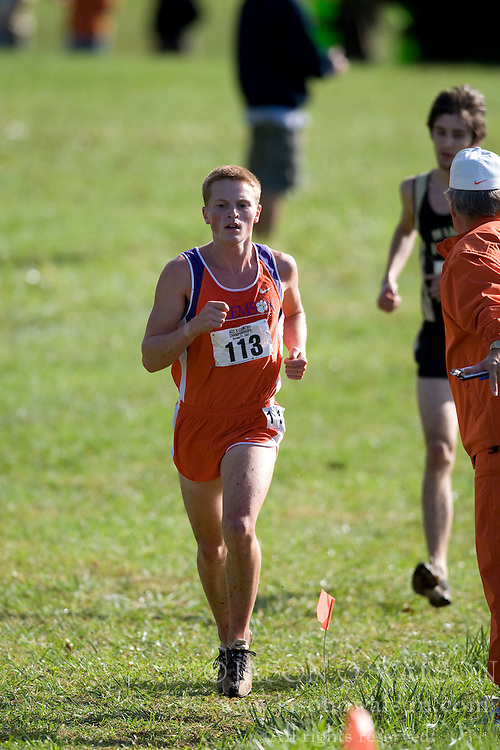Clemson Tigers Bryce Iverson (113)..The Atlantic Coast Conference Cross Country Championships were held at Panorama Farms near Charlottesville, VA on October 27, 2007.  The men raced an 8 kilometer course while the women raced a 6k course.