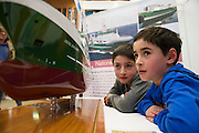 27/11/2016 REPRO FREE:  James and Simon Pereira  Kilnamena Co. Clare with a model of the Celtic ExplorerinNUI Galway as part of the Galway Science & Technology Festival.<br />  <br /> <br /> Photo: Andrew Downes, Xposure.