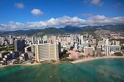 Sheraton Waikiki & Royal Hawaiian hotels Waikiki, Oahu, Hawaii.