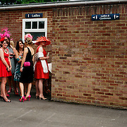 Female spectators queue for the toilets during The Royal Meeting Race meeting, Royal Ascot. England, UK. June 16-20th, 2009. Photo Tim Clayton