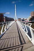 Bridge named after Sir Bobby Robson, Ipswich, Suffolk,