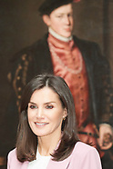 121719 Queen Letizia Visits an exhibition at Royal Palace
