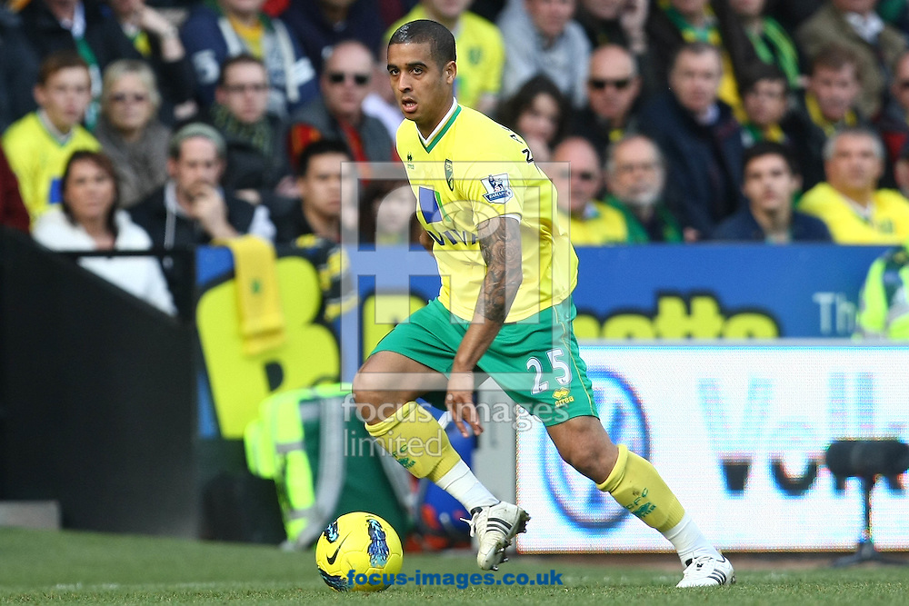 Picture by Paul Chesterton/Focus Images Ltd.  07904 640267.26/02/12.Kyle Naughton of Norwich in action during the Barclays Premier League match at Carrow Road Stadium, Norwich.
