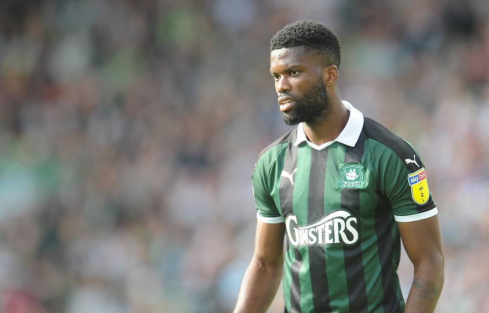 Plymouth Argyle's Joel Grant<br /> <br /> Photographer Kevin Barnes/CameraSport<br /> <br /> The EFL Sky Bet League One - Plymouth Argyle v Blackpool - Saturday 15th September 2018 - Home Park - Plymouth<br /> <br /> World Copyright © 2018 CameraSport. All rights reserved. 43 Linden Ave. Countesthorpe. Leicester. England. LE8 5PG - Tel: +44 (0) 116 277 4147 - admin@camerasport.com - www.camerasport.com