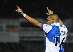 Bristol Rovers' Jerome Easter celebrates his goal. - Photo mandatory by-line: Dougie Allward/JMP - Mobile: 07966 386802 - 20/03/2015 - SPORT - Football - England - Memorial Stadium - Bristol Rovers v Aldershot - Vanarama Football Conference