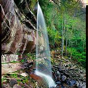 Rainbow Falls, Great Smoky Mountains National Park. 4x5 Kodak Ektar 100. <br /> photo by Nathan Lambrecht