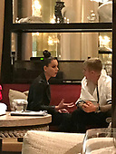 EXCLUSIVE Justin Bieber at Baccarat hotel lounge with Hailee Steinfield