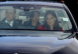 Lord Frederick Windsor with wife Sophie Winkleman arriving for the Queen's Christmas lunch at Buckingham Palace, London.