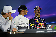 October 30-November 2 : United States Grand Prix 2014, Daniel Ricciardo (AUS), Red Bull-Renault, Lewis Hamilton (GBR), Mercedes Petronas
