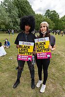Black Lives Matter demonstration in Hyde Park London 21 june 2020 photo by Mark Anton Smith