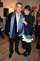 LUCA DEL BONO and SHEHERAZADE GOLDSMITH at a party hosted by Melissa Del Bono to celebrate the launch of her Meli Melo flagship store at 324 Portobello Road, London W10 on 28th November 2013.