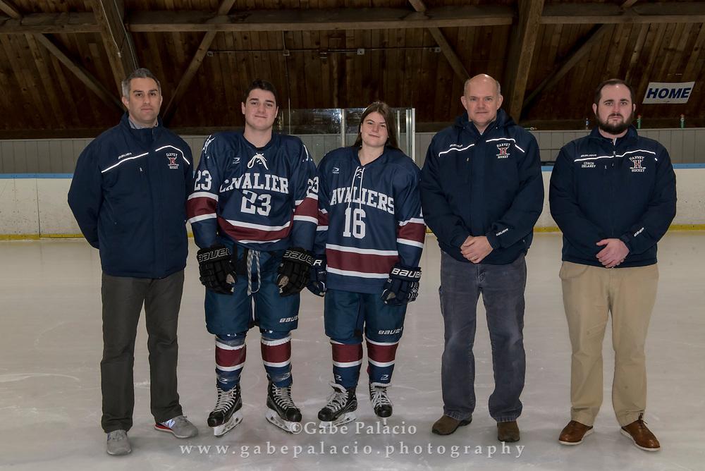 The Varsity Hockey team photo at the Harvey School on December 13, 2017. (photo by Gabe Palacio)